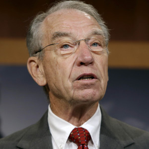 Senator Grassley at news conference on criminal justice reform in Washington