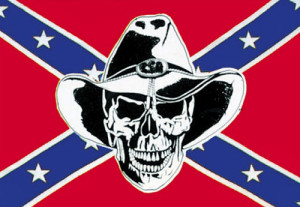 Southern Rebel Skull Rider Confederate Flag